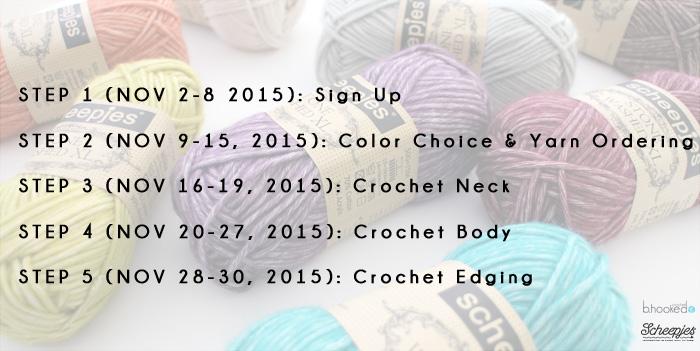 Fall Crochet Poncho - Crochet Along - B Hooked Crochet