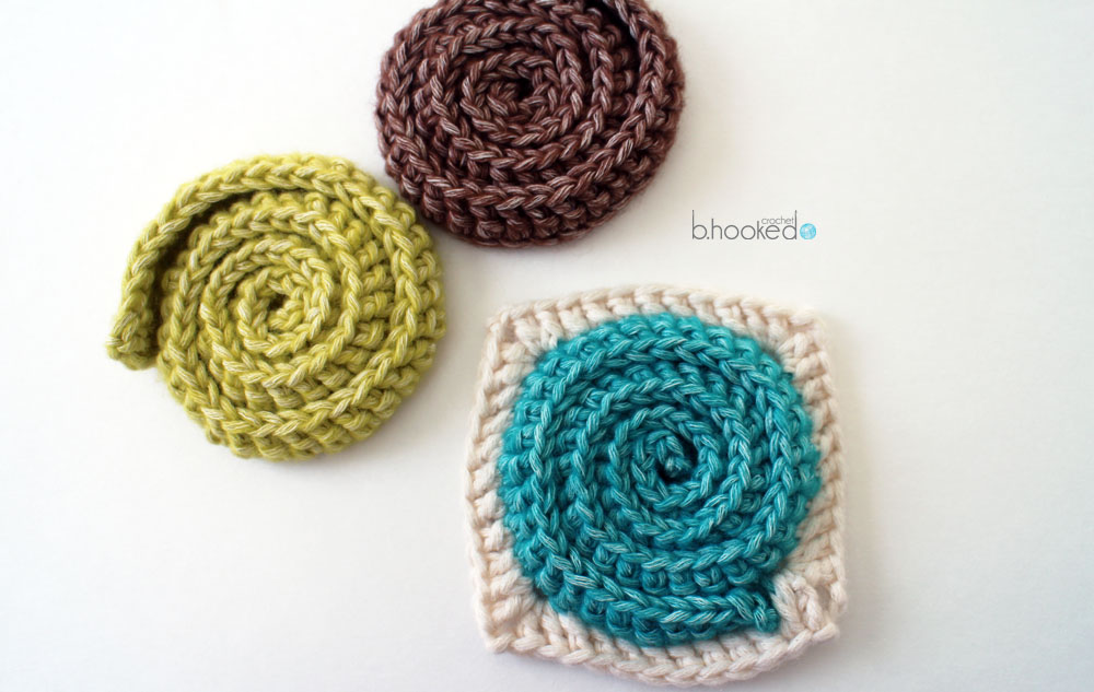 Simple Swirl Embellishment And Motif B Hooked Crochet