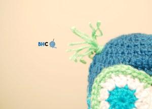 Baby Crochet Owl Hat 0-3 mos
