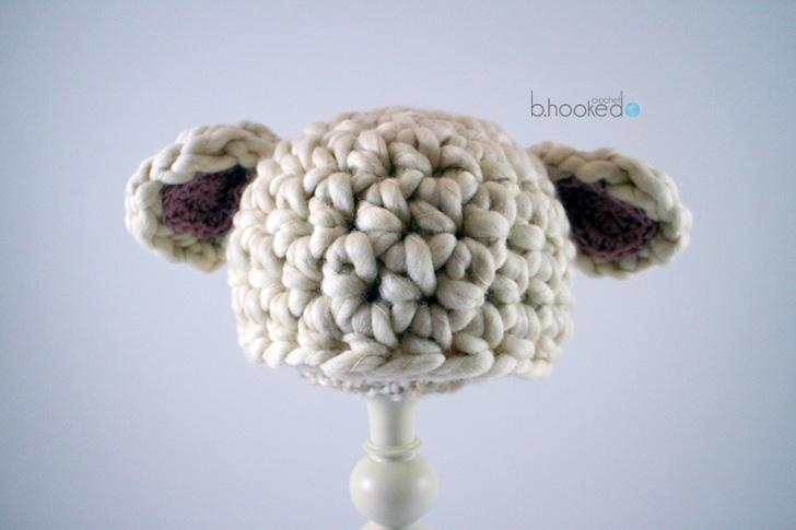 Crochet Baby Lamb Hat - Free Pattern - B.hooked Crochet