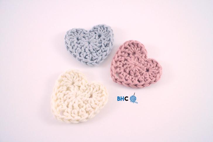 Sweet crochet hearts free pattern video tutorial b hooked