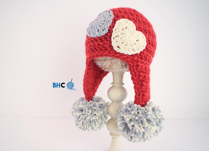 Crochet Sweet Heart Hat Pattern Bhooked Crochet Knitting Podcast