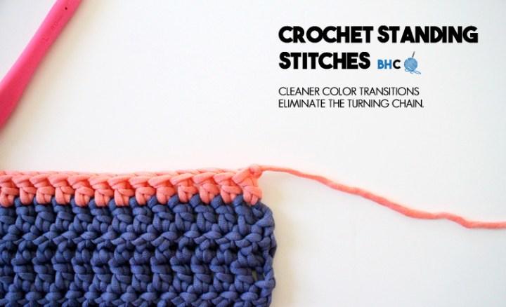 crochet standing stitches