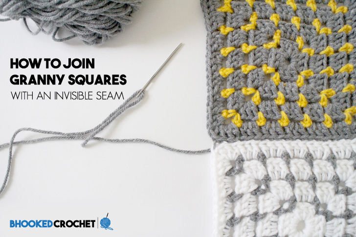 How To Join Granny Squares With An Invisible Seam Bhooked Crochet