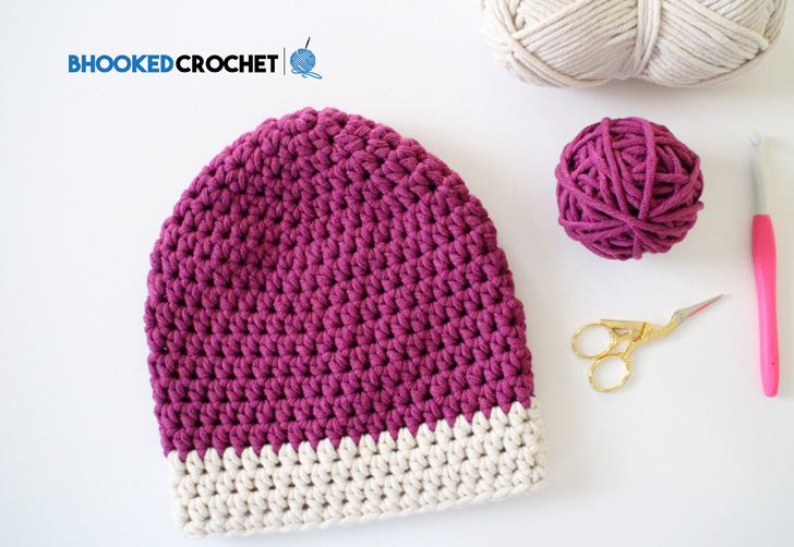Learn How To Crochet The Dipped Tip Hat By Yarnspirations Bhooked