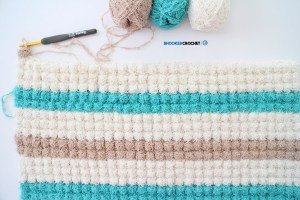 Bobble Scrubby Crochet Bath Mat