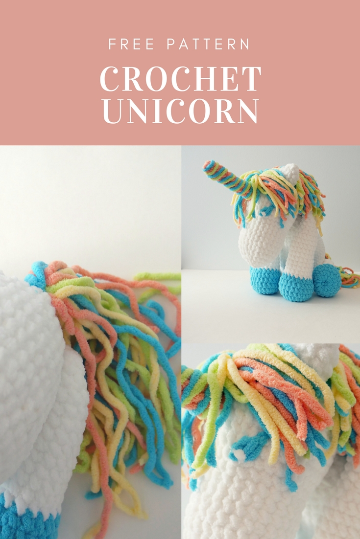 Cuddles Crochet Unicorn With Bernat Blanket Yarn Free Pattern