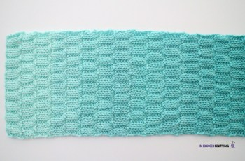 basketweave knit scarf