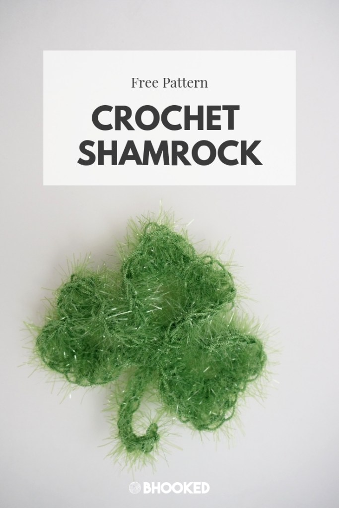 Sparkling Crochet Shamrock | Free Pattern - B.Hooked Crochet | Knitting