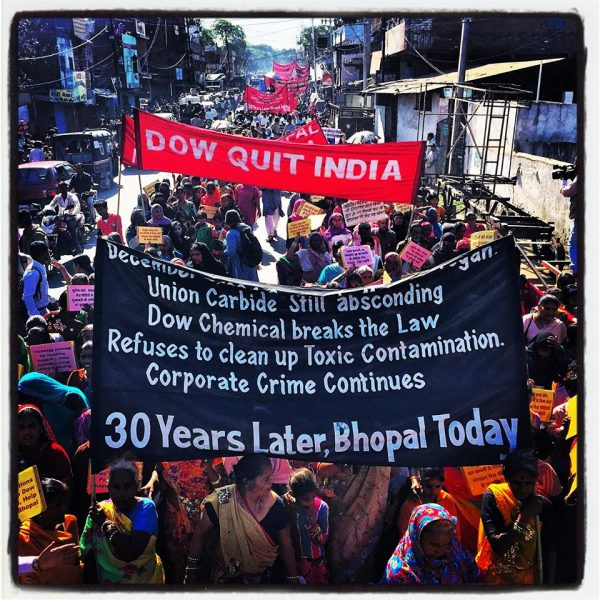 Bhopali's march and protest on the 30th Anniversary of the Bhopal Gas Disaster