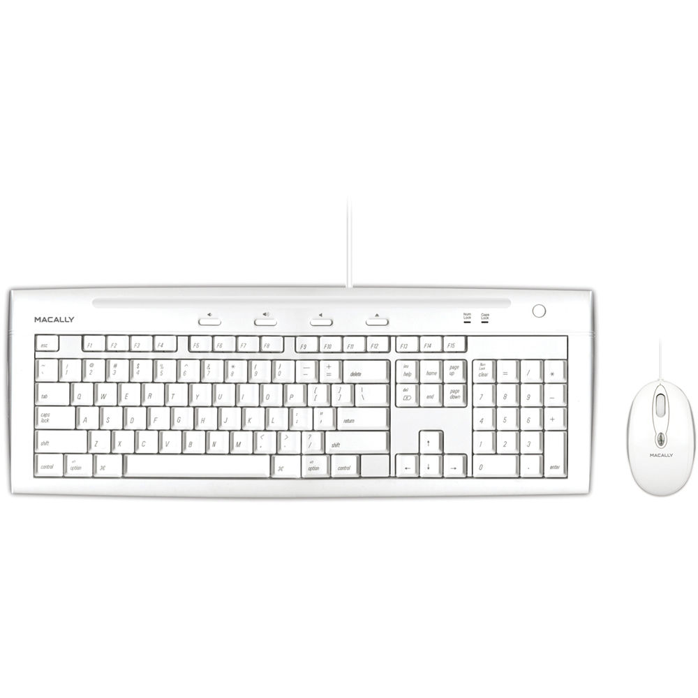 Macally USB Slim Keyboard and Optical Game Mouse Combo