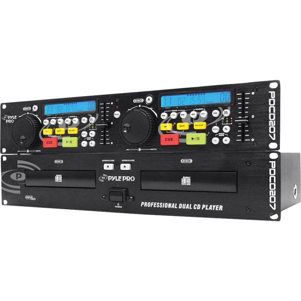 Pyle Pro Pdcd207 19'' Rack Mount Professional Dual Cd