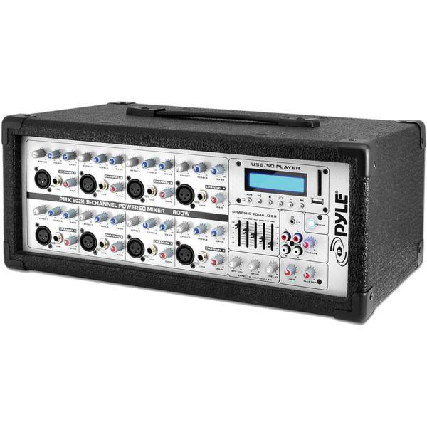 Pyle Pro Pmx802m - 800 Watt 8-channel Powered Pa &