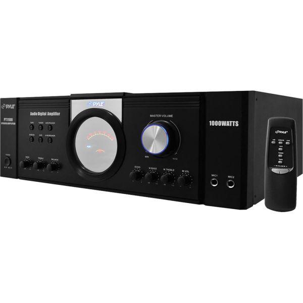 Pyle Pro Pt1100 1000w X 2 8ohms Peak Power Amplifier