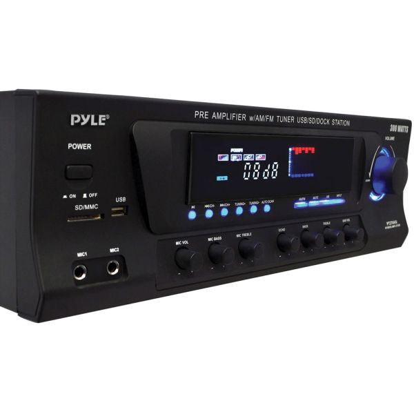 Pyle Pro Pt270aiu 300 Watts Stereo Receiver -fm Tuner