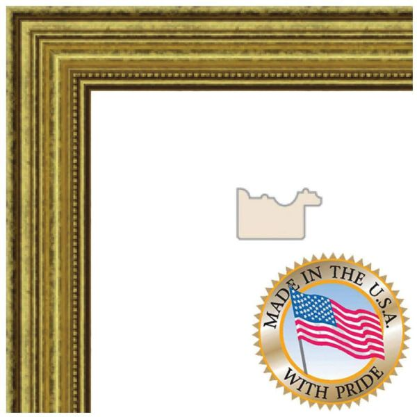 Art Frames 4159 Gold Foil Pine Wom0066-81375-ygld-10x13