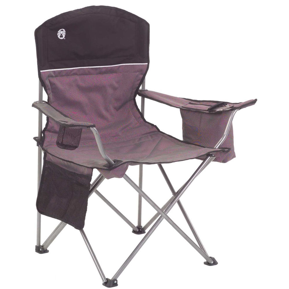 Coleman Oversized Quad Chair with Cooler BlackGray