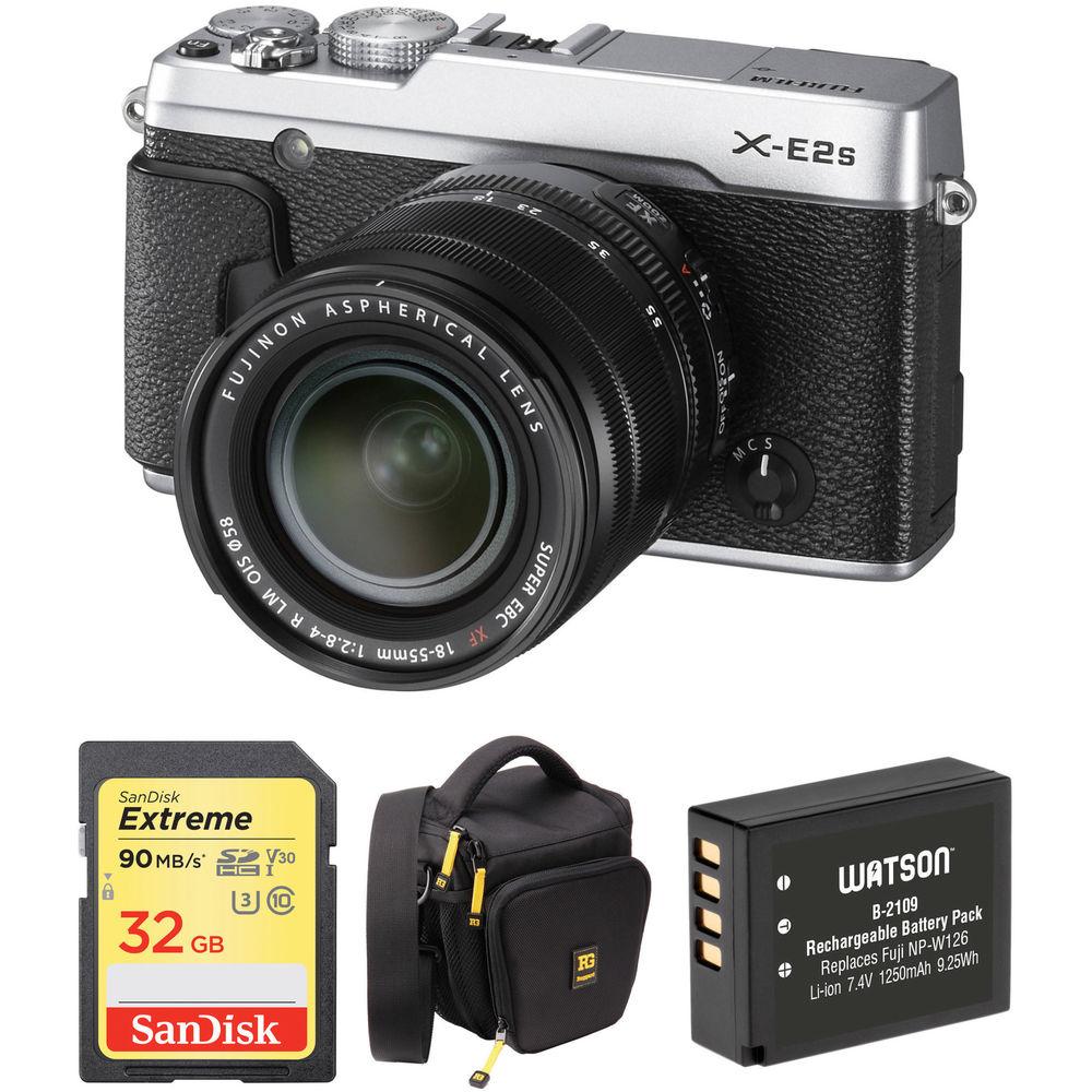 Fujifilm X-E2S Mirrorless Digital Camera with 18-55mm Lens B&H