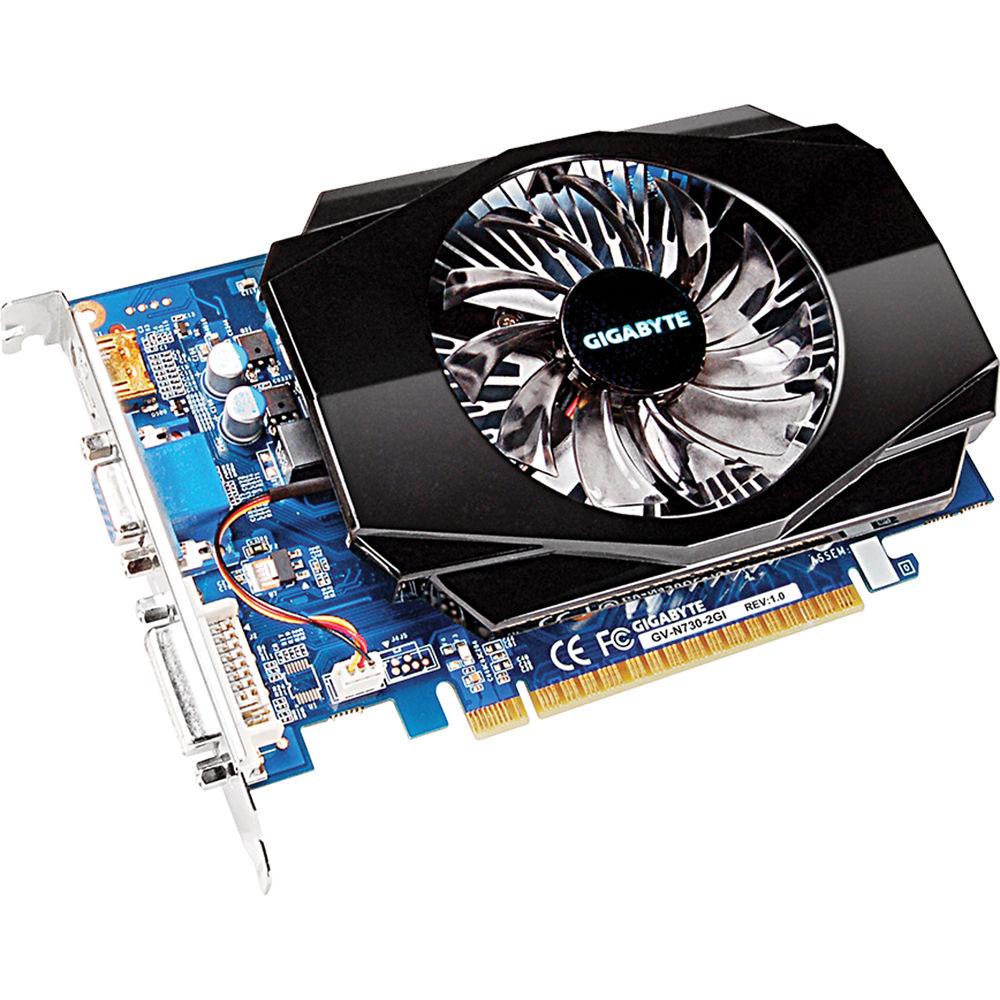 Gigabyte GeForce GT 730 Graphics Card GV-N730-2GI B&H Photo Video