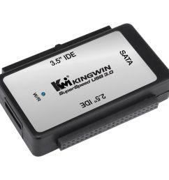 kingwin ez connect usb 3 1 gen 1 to sata ide bridge adapter [ 1000 x 1000 Pixel ]