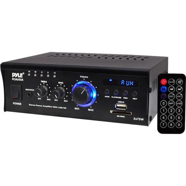 Pyle Pro Pcau35a 2-channel 150w Stereo Power Amplifier