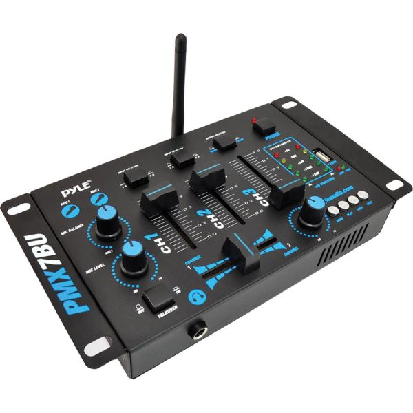Pyle Pmx7bu 3 Channel Bluetooth Dj.mp3 Mixer