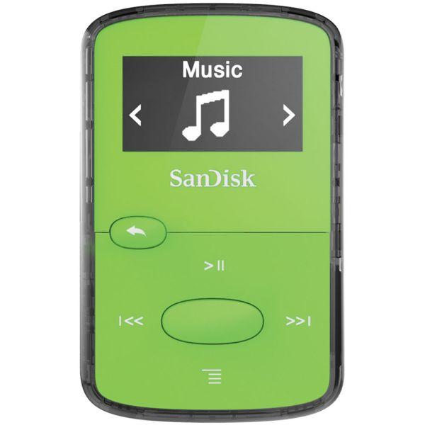 Sandisk 8gb Clip Jam Mp3 Player Green Sdmx26-008g-g46g &