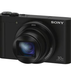 sony cyber shot dsc wx500 digital camera black  [ 1000 x 1000 Pixel ]