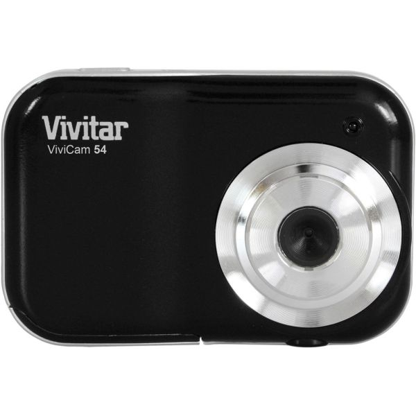 Vivitar Vivicam 54 Digital Camera Black V54-blk &