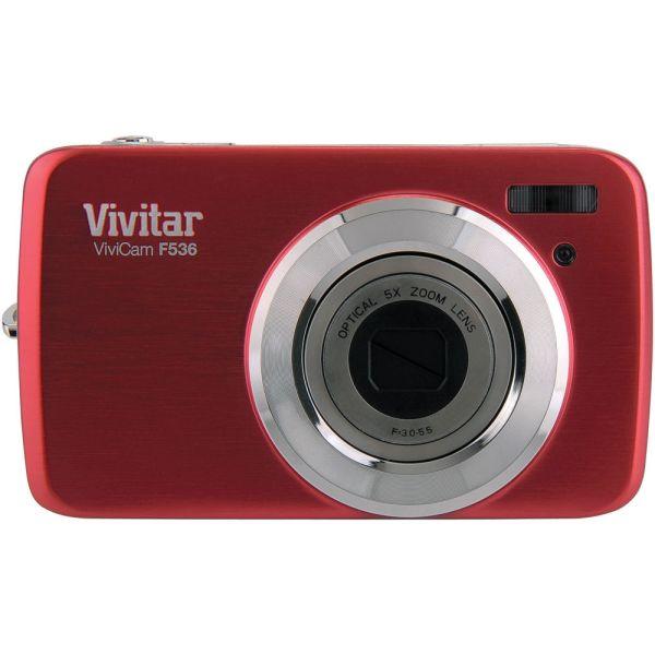 Vivitar Vivicam F536 Digital Camera Red Vf536-red &