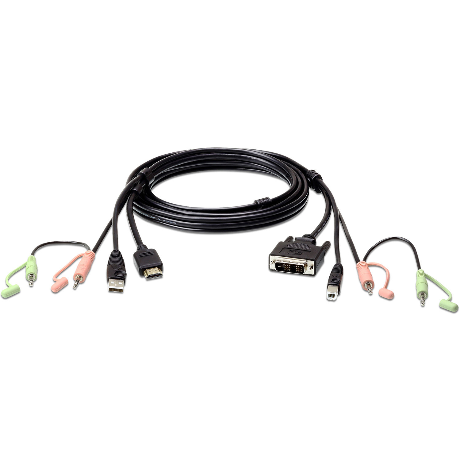 Aten Usb A Hdmi To Dvi D Usb B Kvm Cable With Audio 6