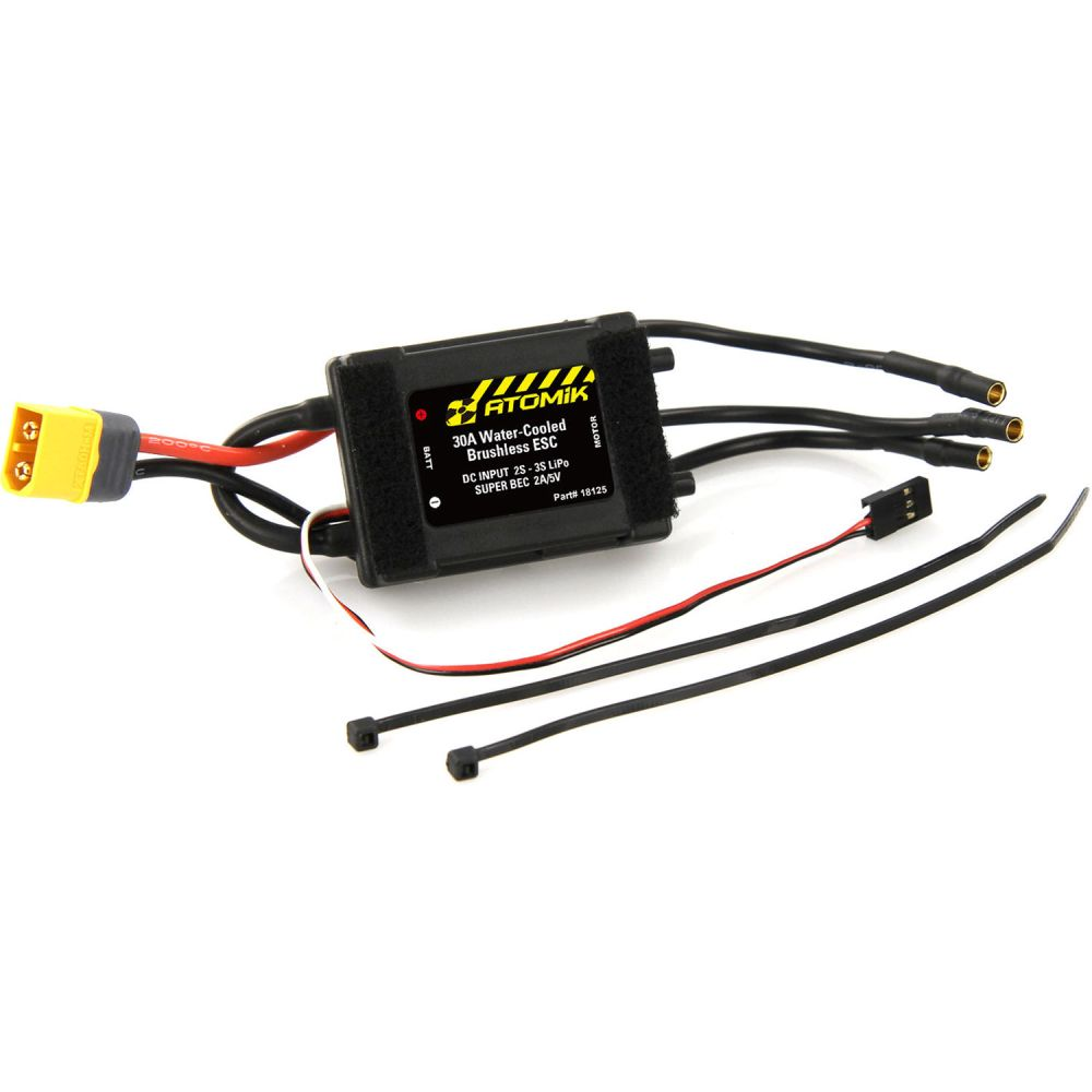 medium resolution of atomik rc 30a water cooled brushless electronic speed controller for barbwire 2 rc boat
