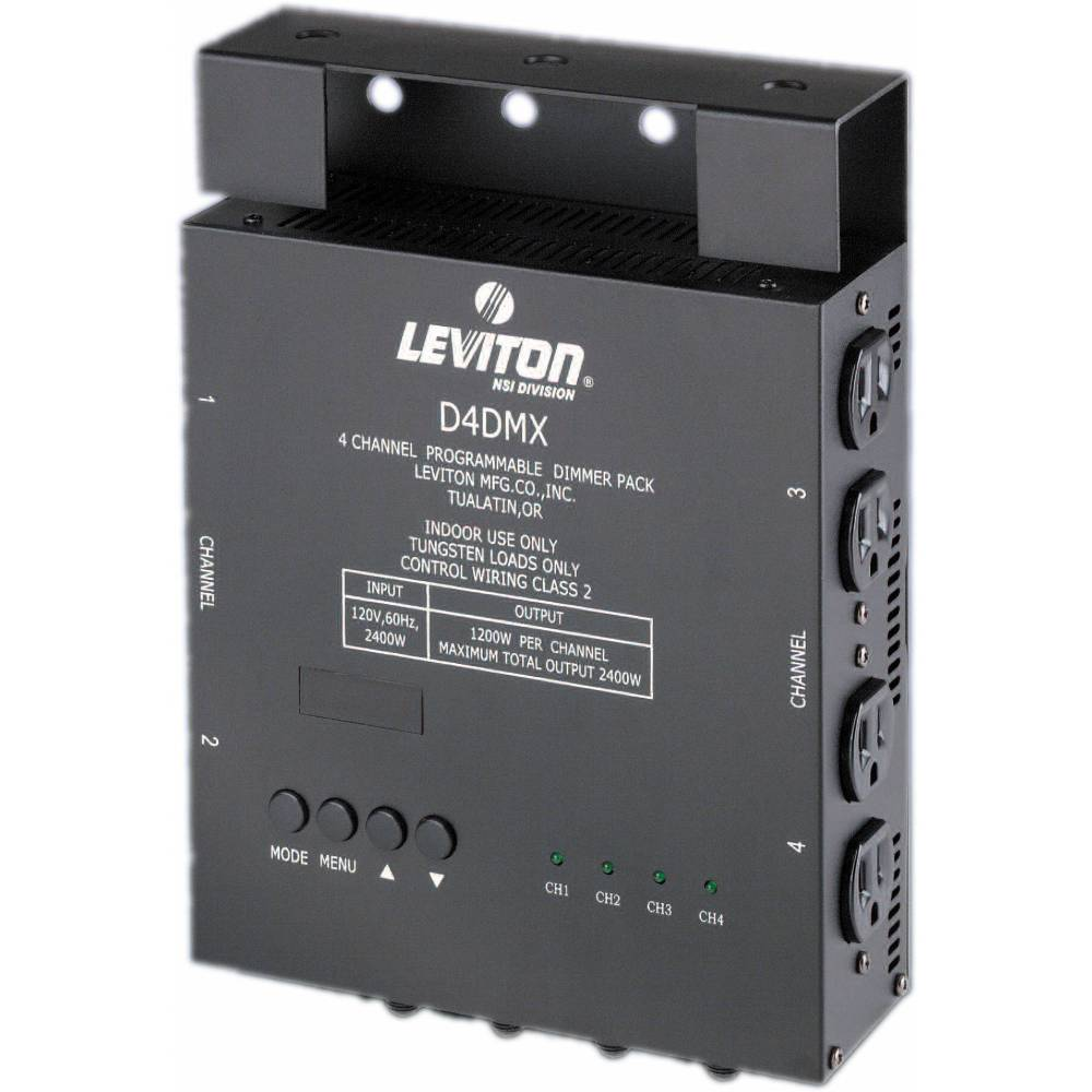 medium resolution of nsi leviton d4 dmx 4 channel programmable dimmer pack 3 pin xlr