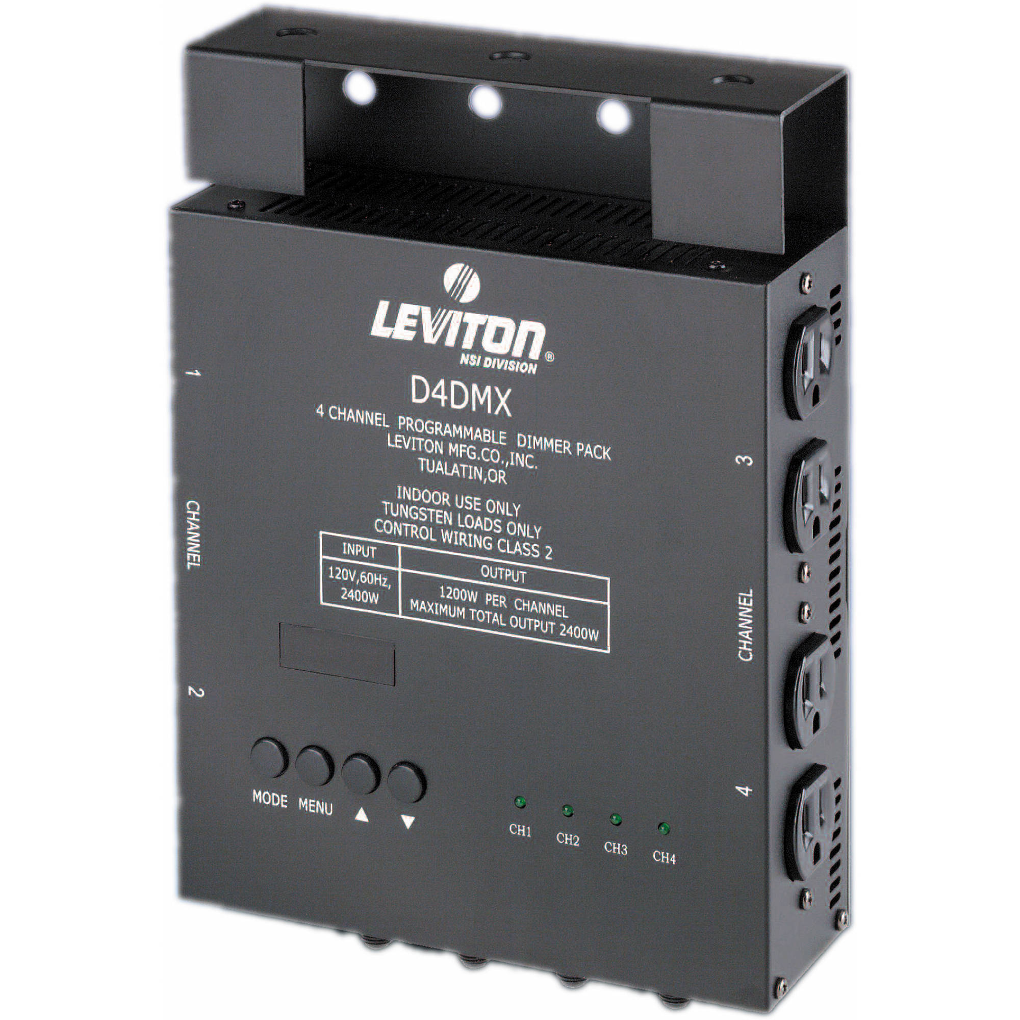 hight resolution of nsi leviton d4 dmx 4 channel programmable dimmer pack 3 pin xlr