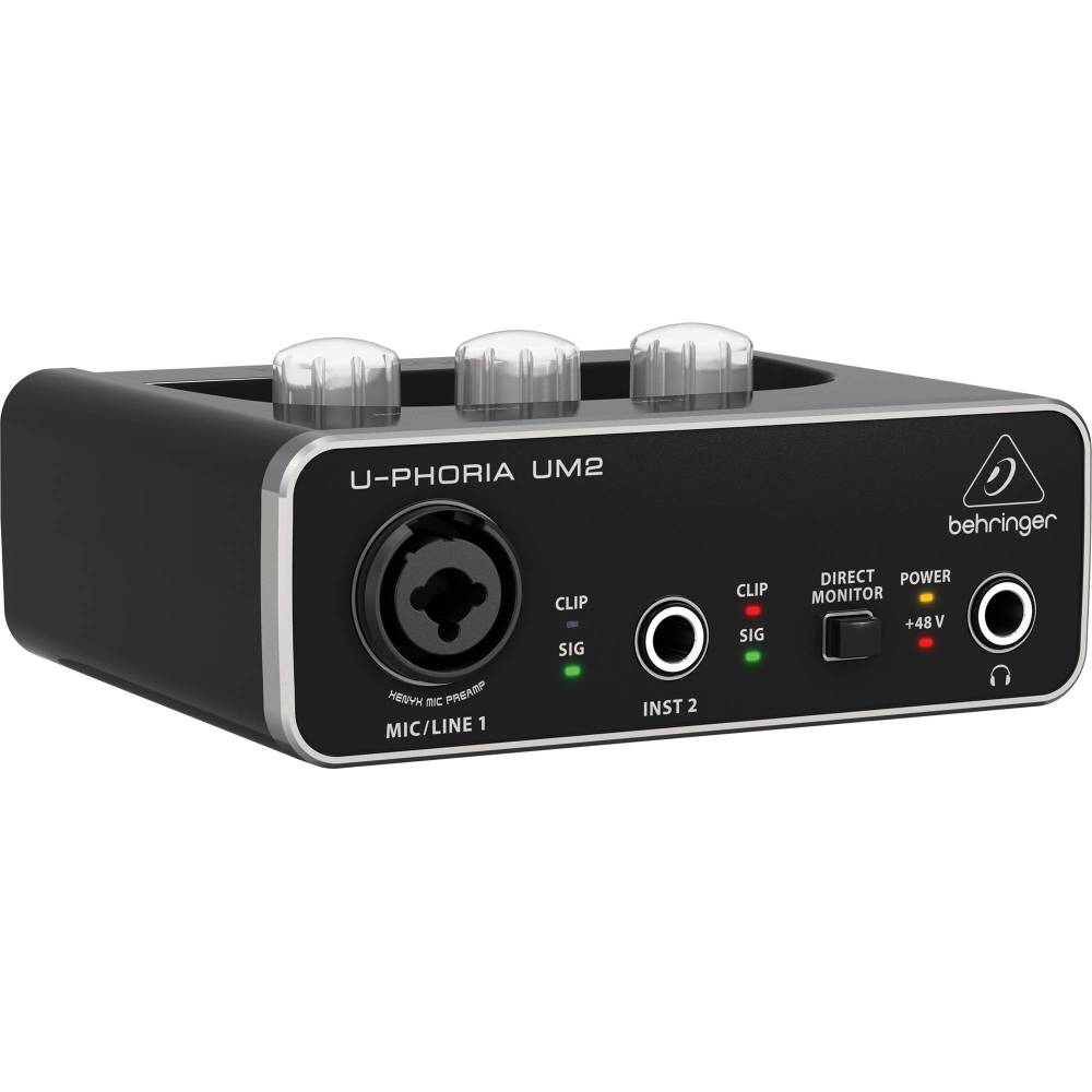 medium resolution of behringer u phoria um2 2x2 usb audio interface