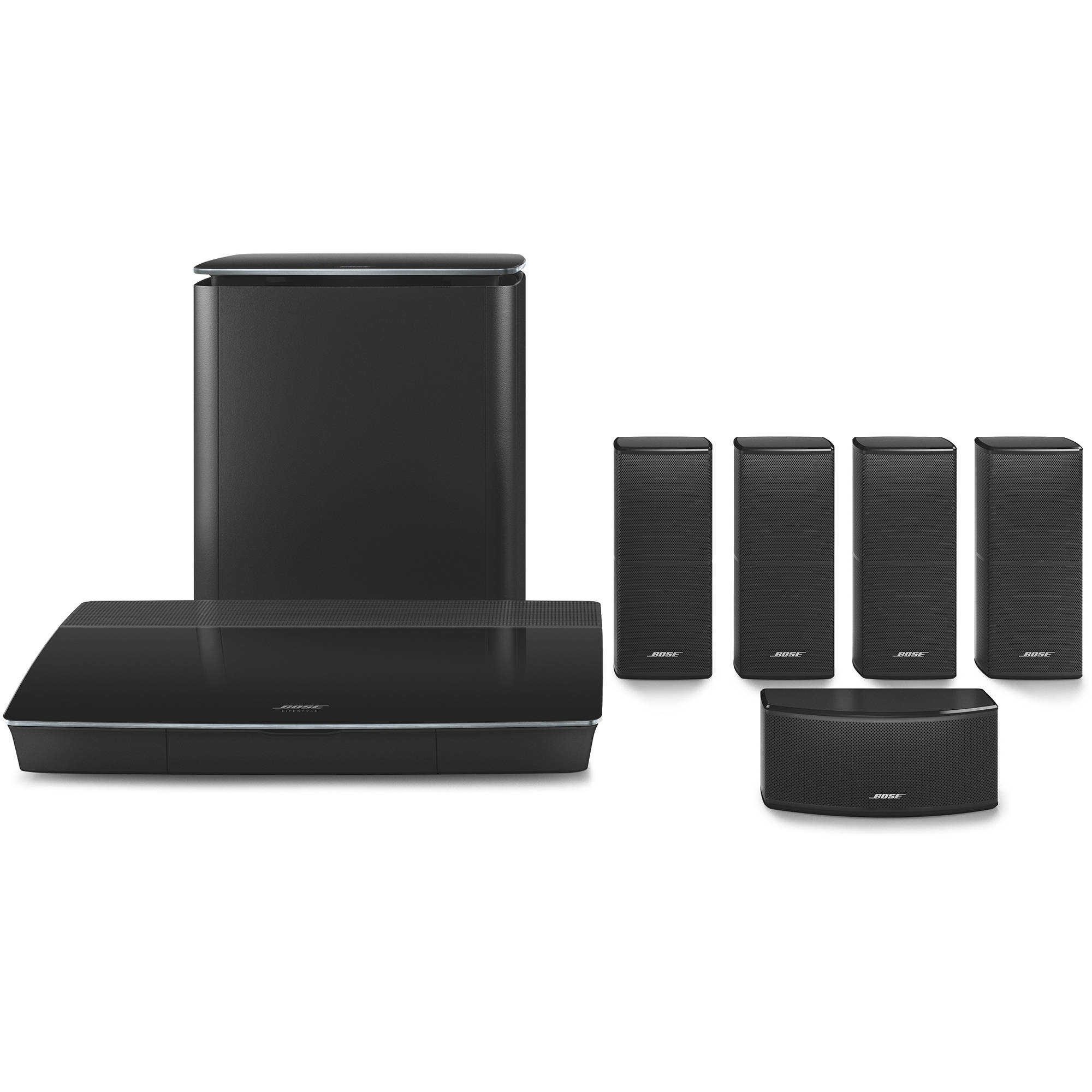 hight resolution of bose lifestyle 600 home theater system with jewel cube speakers black