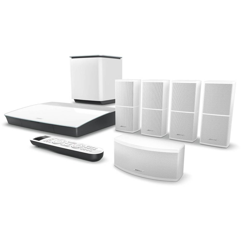 medium resolution of bose lifestyle 600 home theater system with jewel cube speakers white