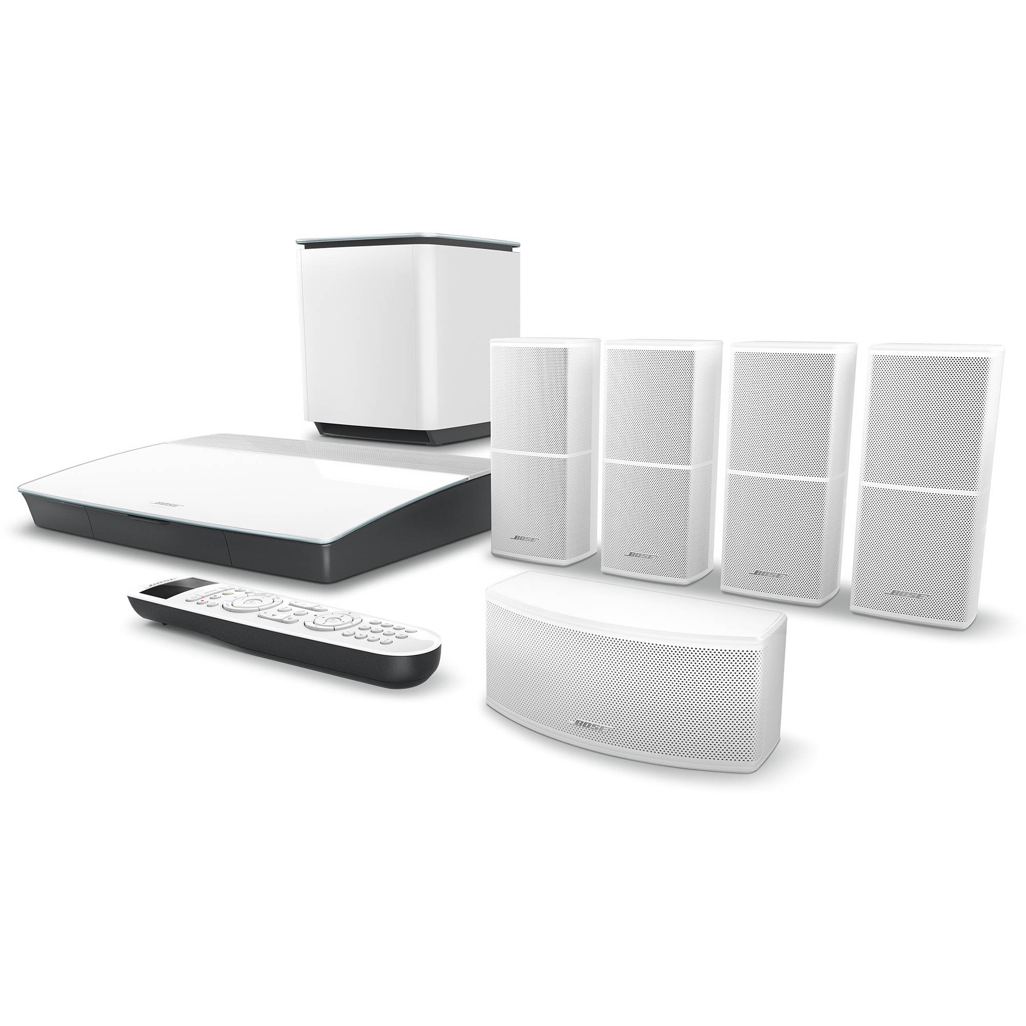 hight resolution of bose lifestyle 600 home theater system with jewel cube speakers white