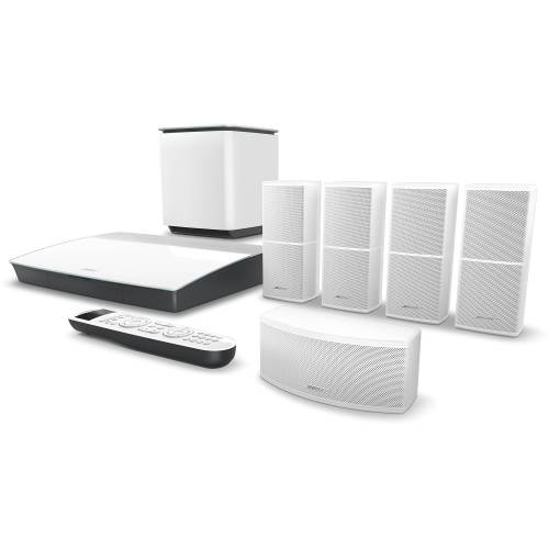 small resolution of bose lifestyle 600 home theater system with jewel cube speakers white