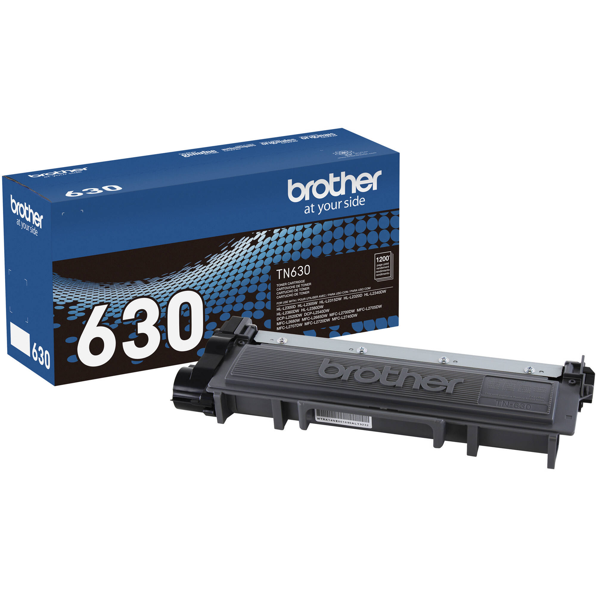hight resolution of brother tn630 standard yield black toner cartridge