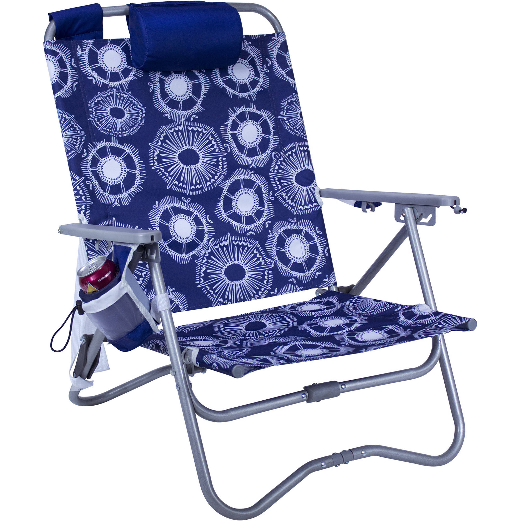 beach chair pillow with strap tiffany blue covers gci outdoor bi fold st 63098 b andh photo video