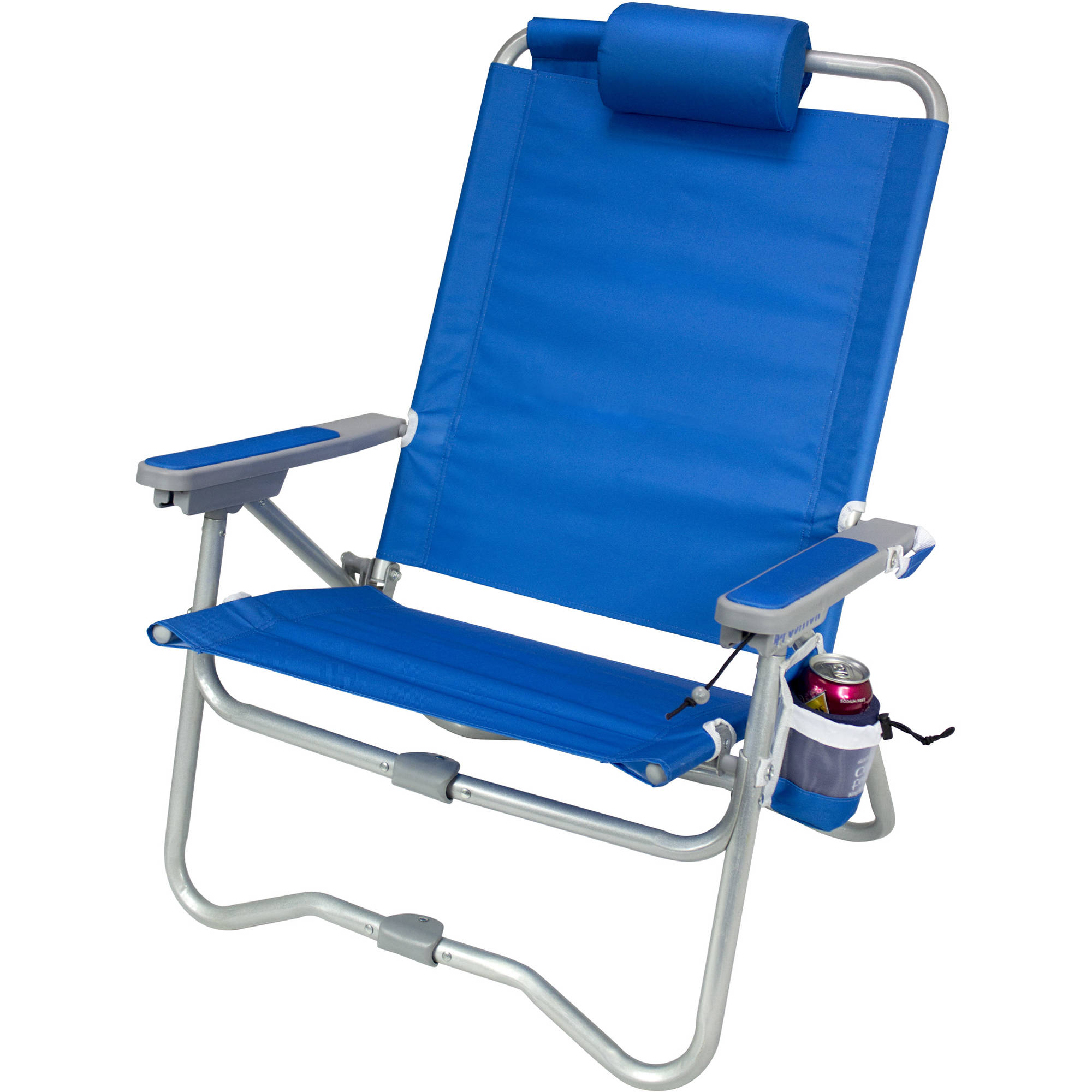 beach chair pillow with strap steel base price gci outdoor bi fold saybrook blue 64083 b andh