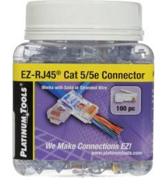 platinum tools ez rj45 cat5 5e connectors jar 100  [ 2000 x 2000 Pixel ]
