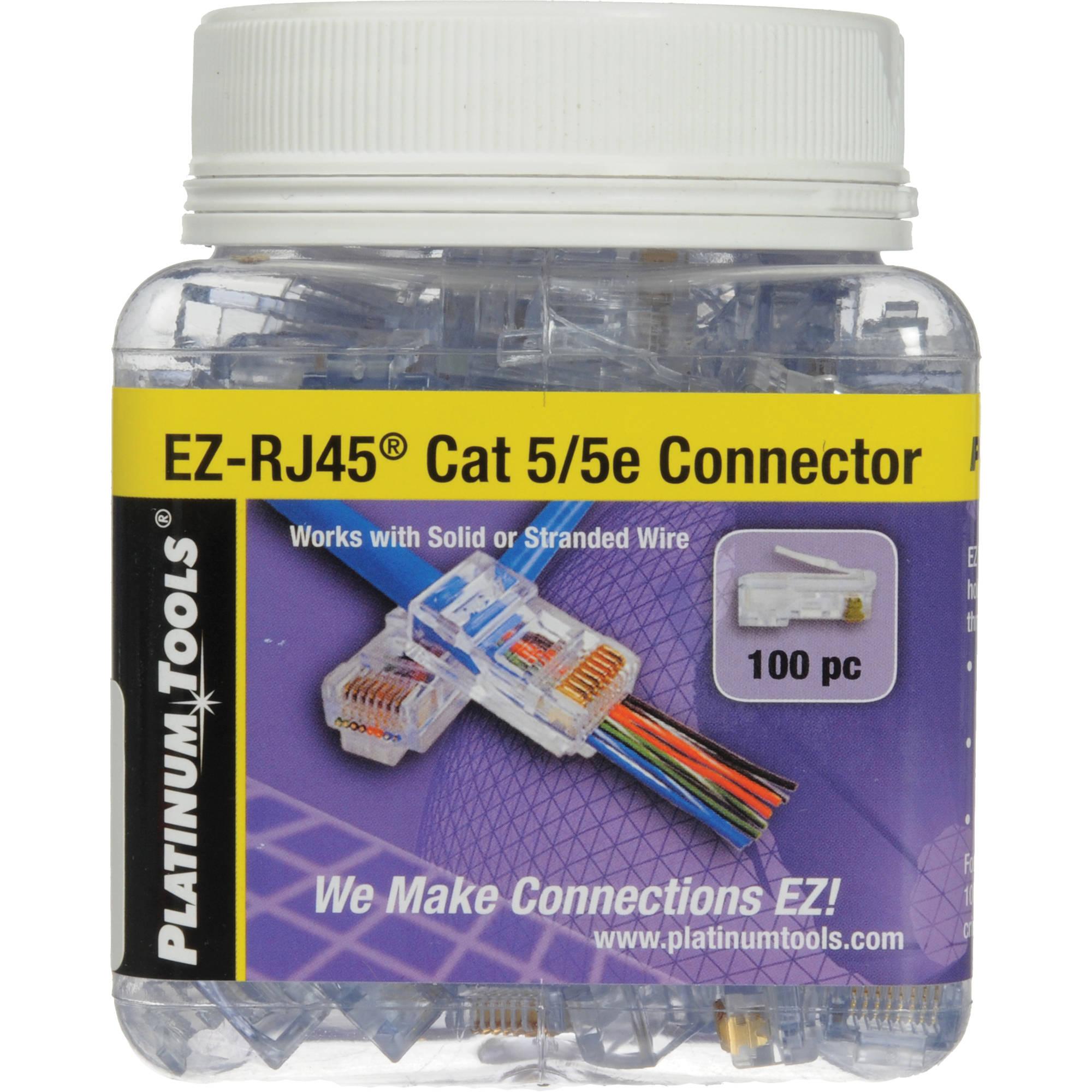 hight resolution of platinum tools ez rj45 cat5 5e connectors jar 100