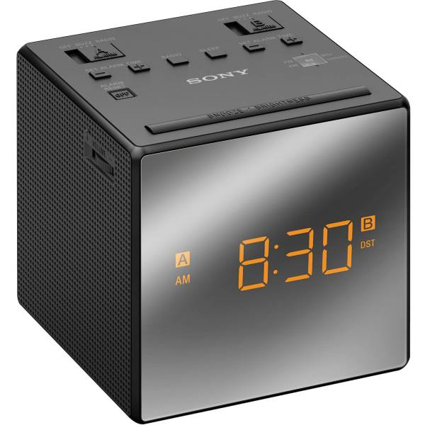 Sony Dual Alarm Clock Radio Black Icfc1tblack & Video