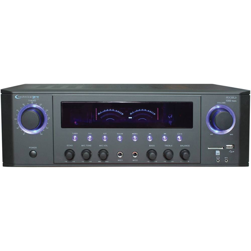 medium resolution of technical pro rx38ur professional receiver with usb sd card inputs