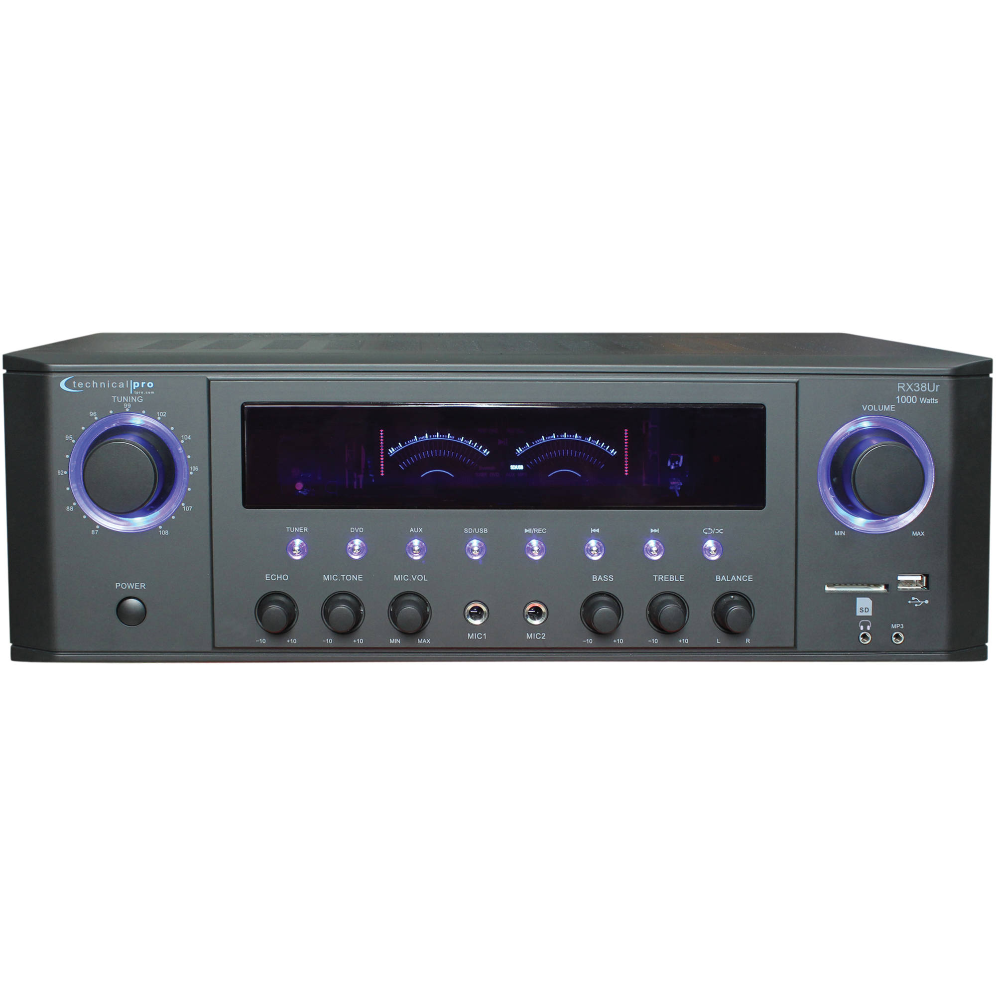hight resolution of technical pro rx38ur professional receiver with usb sd card inputs