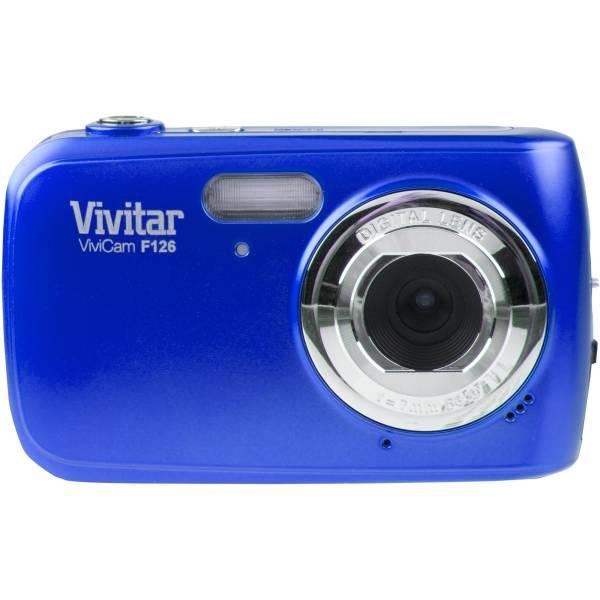 Vivitar F126 Digital Camera Blue Vf126-blu-int & Video