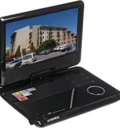 audiovox ds9341 9 swivel screen portable dvd player [ 2500 x 2500 Pixel ]