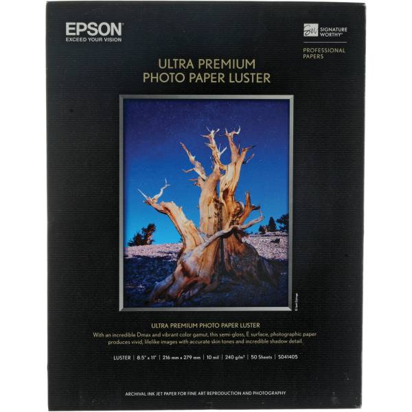 Epson Ultra Premium Paper Luster S041405 & Video